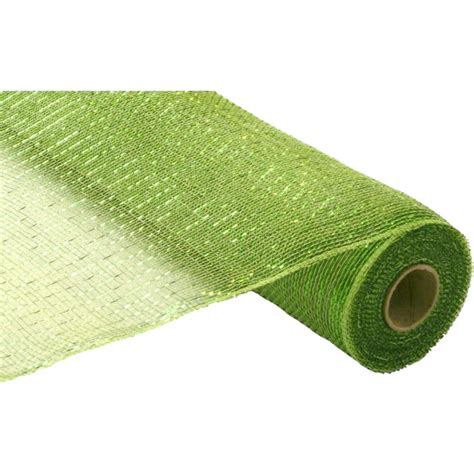 Poly Apple 21 quot poly deco mesh metallic apple moss re100149