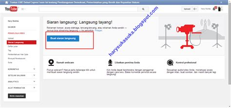membuat video streaming online cara membuat live streaming di youtube terbaru 2014 blog