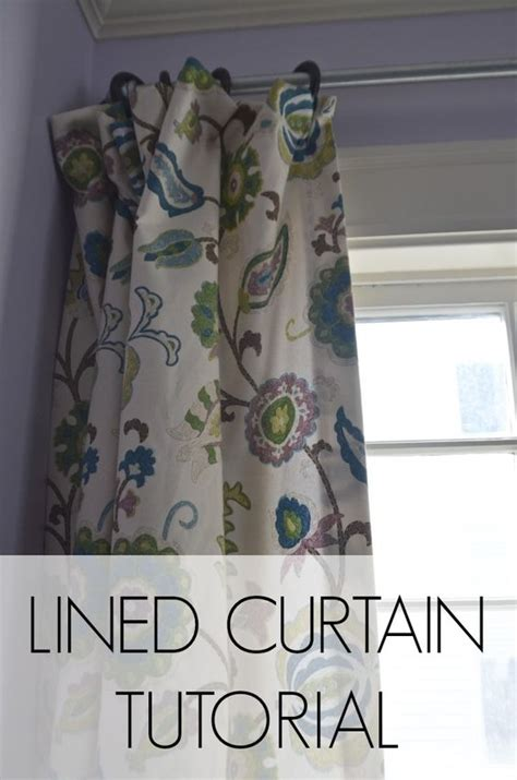 lined drapes tutorial curtain tutorial bedrooms and diy and crafts on pinterest