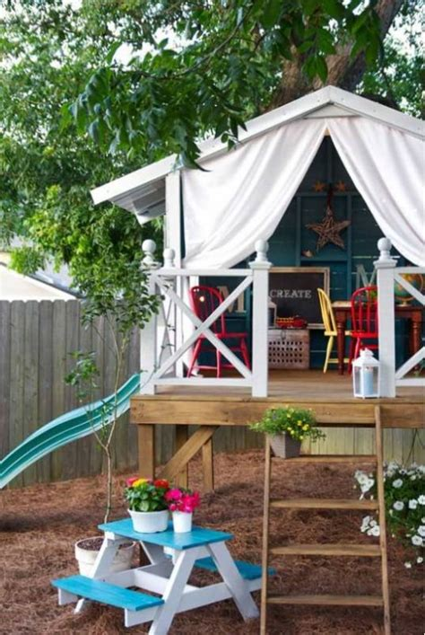 cool diy backyard children bungalow kidsomania