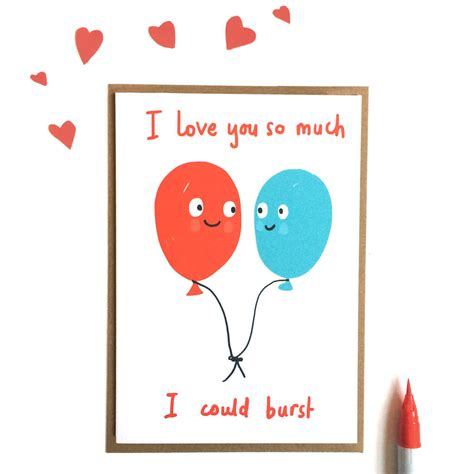 images of love you so much i love you so much i could burst valentines card by