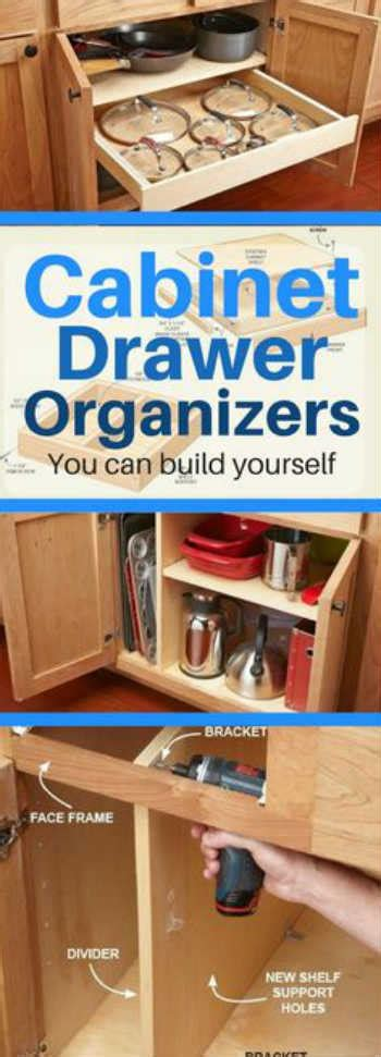 kitchen cabinets build yourself 10 diy kitchen cabinet drawer organizers you can build