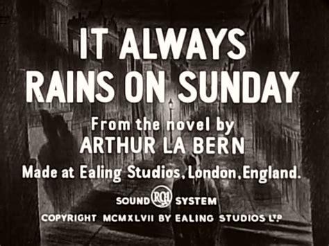 film it always rains on sunday it always rains on sunday 1947 film