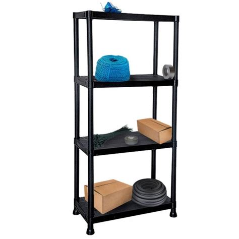 heavy duty plastic shelving 4 tier black plastic heavy duty shelving racking storage