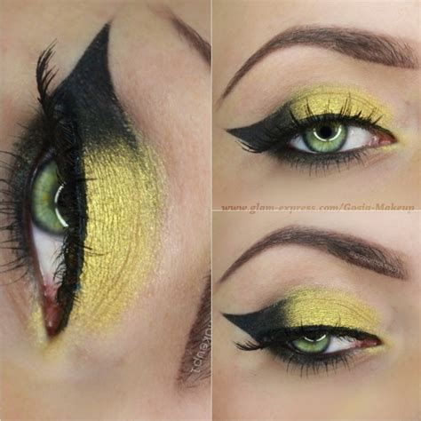 gold and black cat eye makeup mugeek vidalondon
