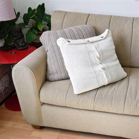 diy sweater pillow popsugar smart living