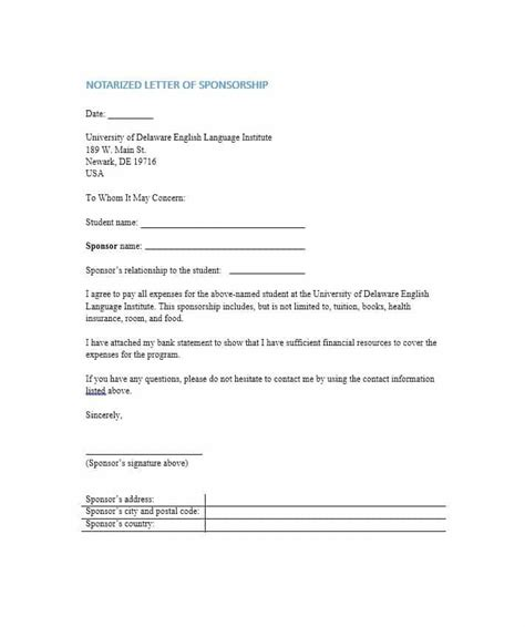 letter of financial responsibility letter template