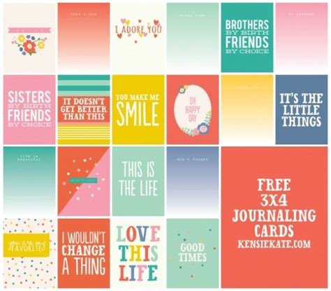 printable quotes for project life 250 free project life journaling and filler cards fab