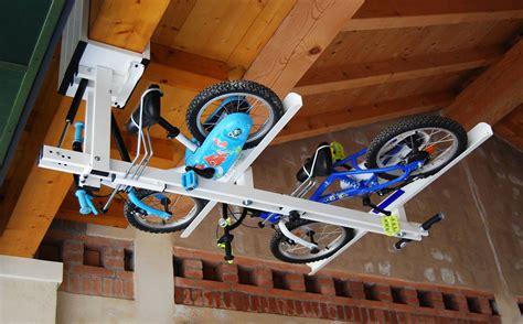flat bike lift ceiling overhead bike rack for flat bike lift