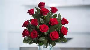 Huge Vase Red Roses Spring In The Air