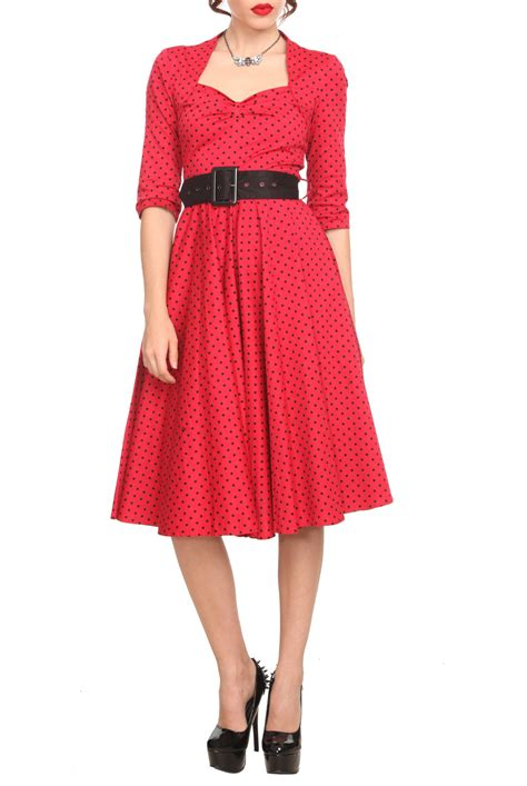 hell bunny swing dress hell bunny red polka dot swing dress from hot topic