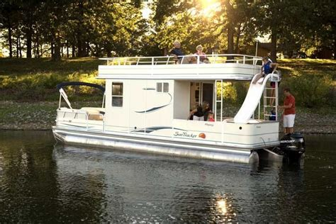 pontoon boat with cabin research sun tracker on iboats
