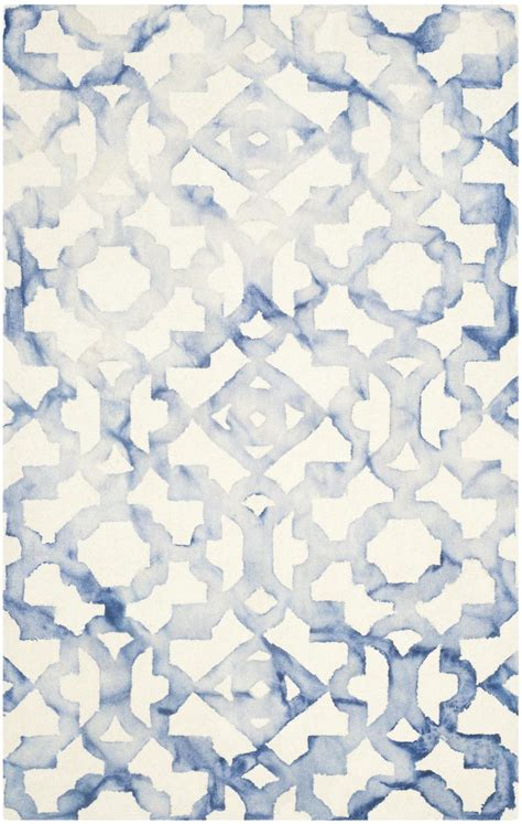 blue and ivory rug safavieh dip dyed ddy717a ivory and blue area rug free