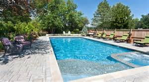 Backyard Landscaping Ideas On A Budget by Chicago Pool And Spa Northbrook Traditional Pool