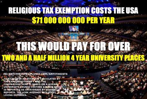 church tax exempt cost