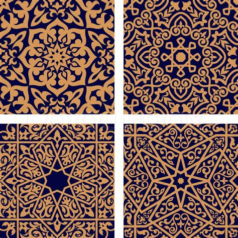 arabic seamless pattern geometric arabic seamless patterns with orange ornament