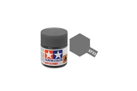 Tamiya Xf 53 Neutral Grey Enamel Paint 10ml tamiya acrylic mini xf 53 neutral grey 10ml jar 81751 tamiya up scale hobbies