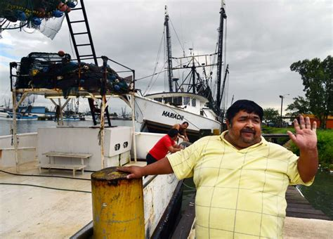 shrimp boat captain mexican shrimpers dock in texas ports to escape tropical