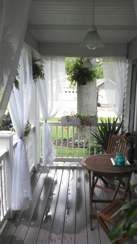 Outdoor Curtains For Screened Porch Best 25 Front Porch Curtains Ideas On
