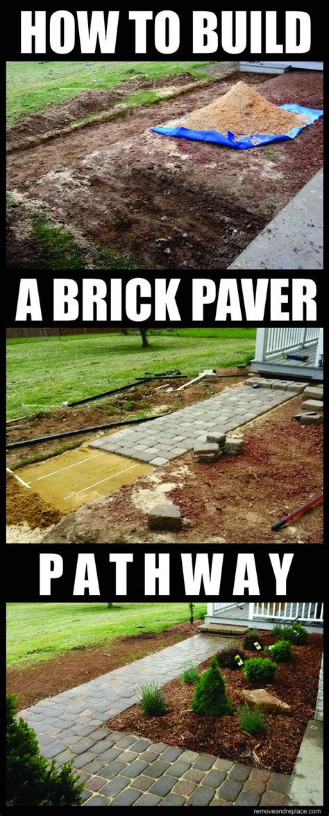 how to build a pavestone home entranceway walkway with