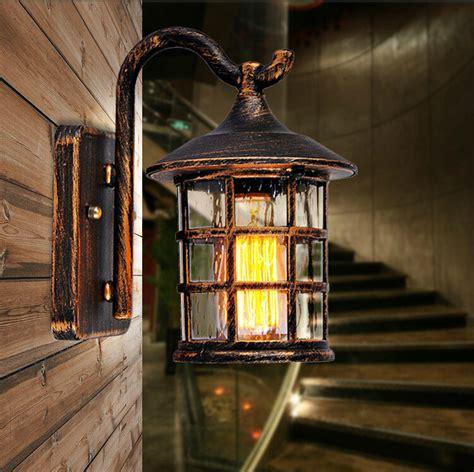 vintage outdoor wall lights aliexpress buy retro rustic iron waterproof outdoor