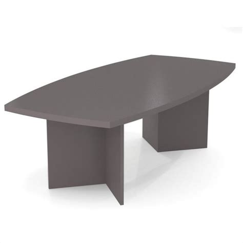 Boat Shaped Meeting Table Bestar Meeting Solutions 8 Boat Shaped Light Board Top Conference Table In Slate 65776 59