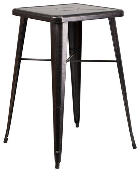 Bar Height Bistro Table Outdoor Marias Antique Square Bar Height Table Industrial Outdoor Pub And Bistro Tables By