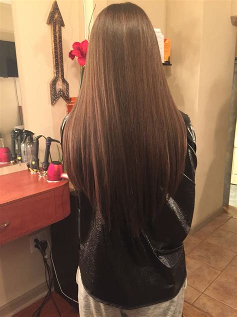 three stylish v shaped haircut for people with long hair v