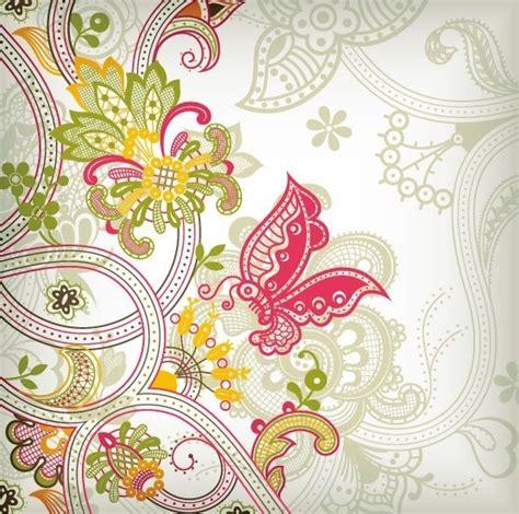 vintage floral pattern vector background vintage flower pattern background vector art free vector