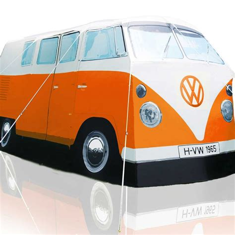 orange volkswagen van vw cervan tent replica cer van shaped tent