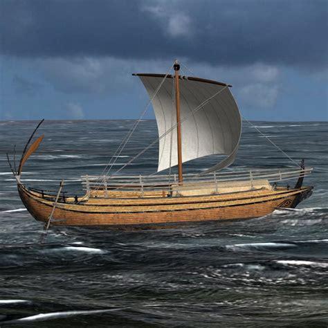 greek boat 3d model of ancient greek freight ship hull