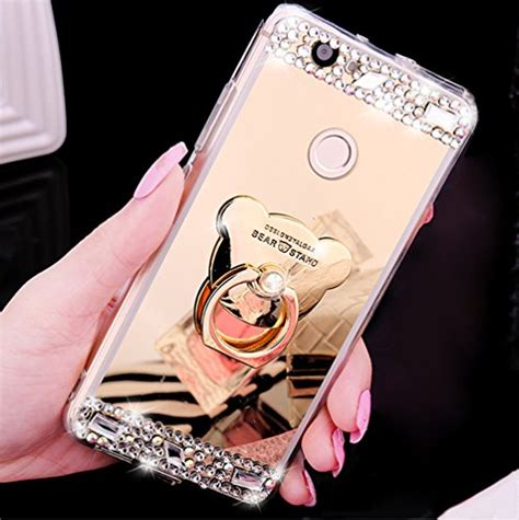 Glitter Skin With Finger Ring Huawei P8 spiegel und andere wohnaccessoires jawseu