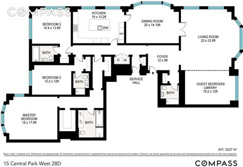 15 cpw floor plans streeteasy 15 central park west in lincoln square 28d