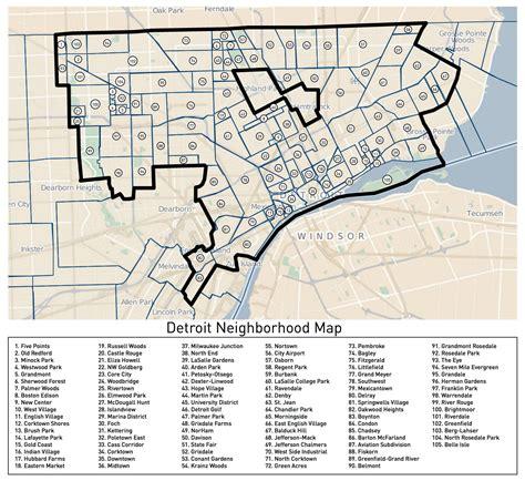 printable road map of detroit loveland s detroit neighborhoods map detroitography