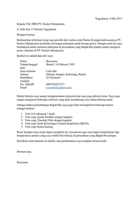 81 sukses wawancara kerja contoh surat lamaran kerja contoh surat