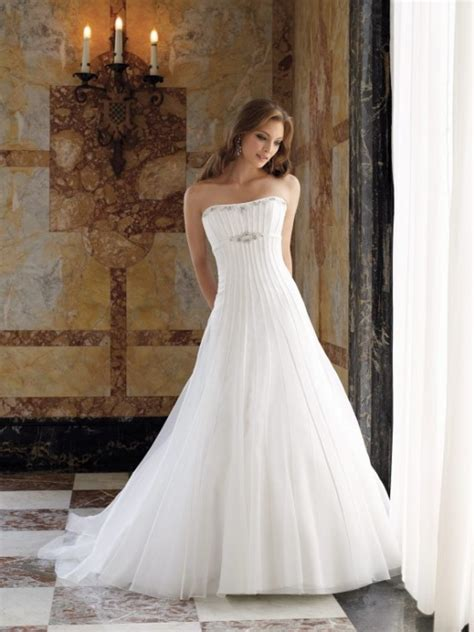 strapless 2010 fall wedding gown princess silhouette