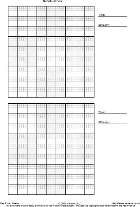 printable sudoku grids template   speedy