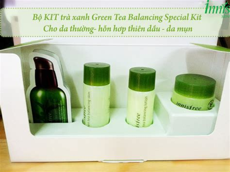Harga Innisfree Green Tea Balancing Special Kit review innisfree green tea balancing special kit