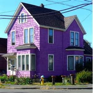 What Colour To Paint My House Exterior - purple houses the world of kitsch