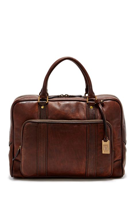frye richard vintage leather work bag in brown for lyst