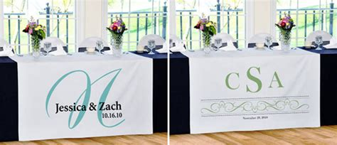 Wedding Table Banner by Personalize Your Special Day With Wedding Banners