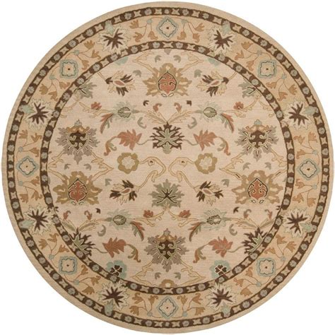 Artistic Weavers Sofia Beige 8 Ft X 8 Ft Round Area Rug 8 Ft Rugs