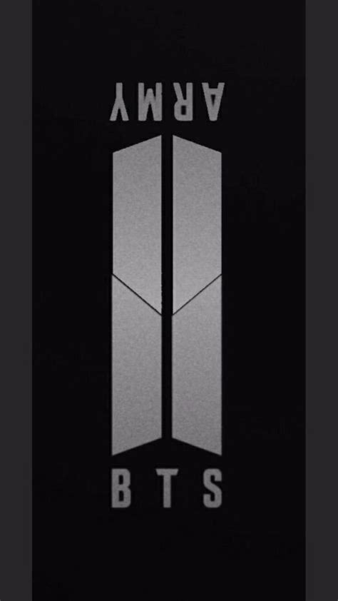 bts logo bts unveils a new logo that connects them as one with army