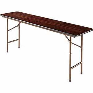 alera rectangular folding table walnut walmart