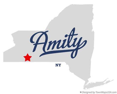 Amity New York Mba by Map Of Amity Allegany County Ny New York