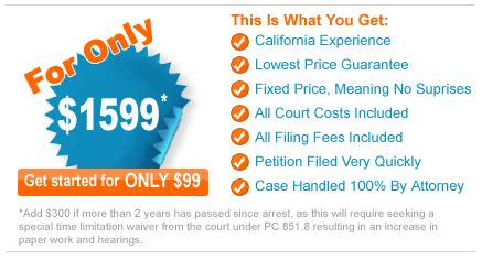 Seal Criminal Record California California Arrest Record Sealing Pc 851 8