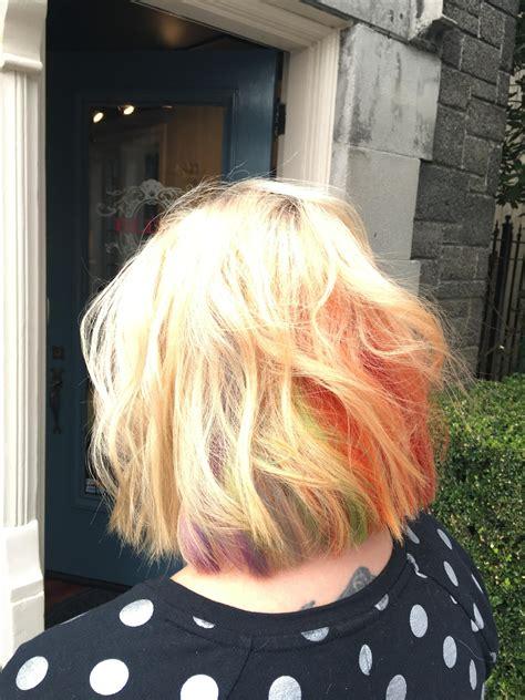 seattle hair shows now trending hidden rainbow hair seattle refined