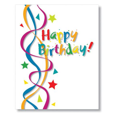 card for birthday cheerful streamers birthday card