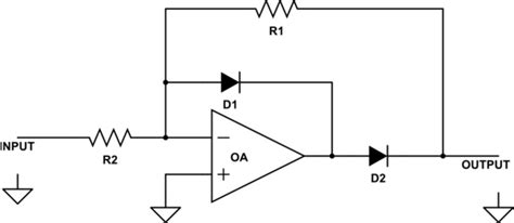 rectifier circuit using op operational lifier with diode electrical engineering stack exchange
