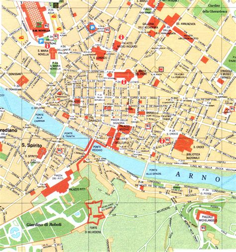 map of florence italy florence map large map of florence italy